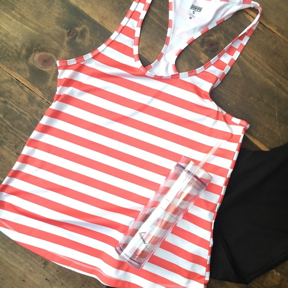 Soffe Tops - Racerback stripped tank